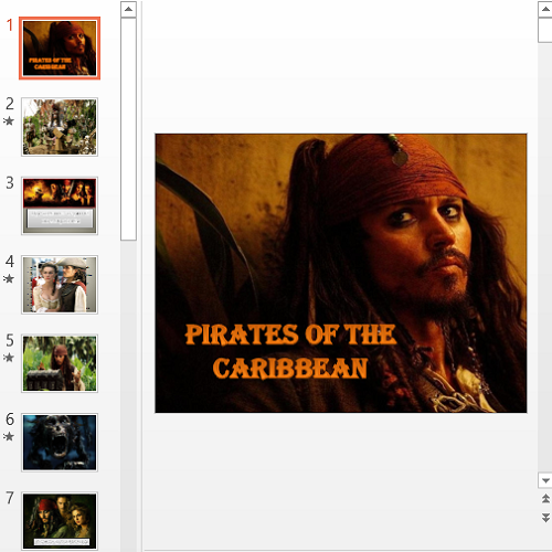 Презентация Pirates of the Caribbean