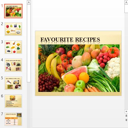 Презентация Favourite recipes