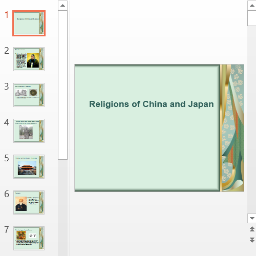 Презентация Religions in China and Japan
