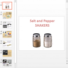Презентация Salt and Pepper Shakers