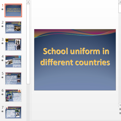 Презентация School uniform in different countries