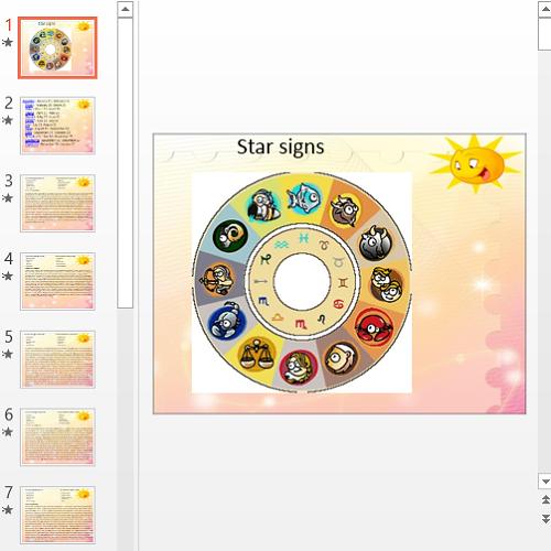 Презентация Star signs