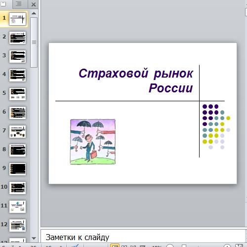 Презентация Страховой рынок России