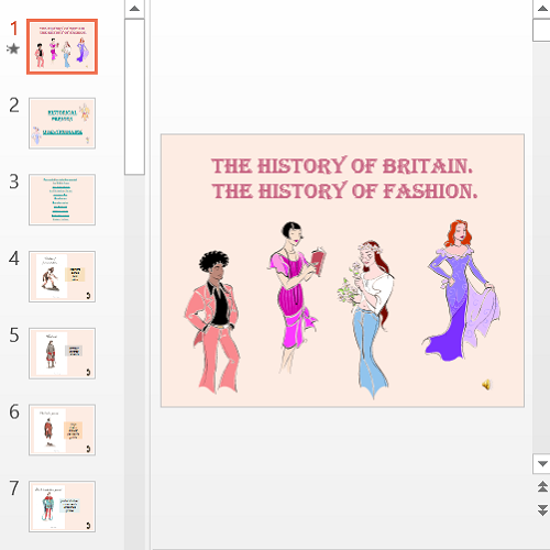 Презентация The history of fashion