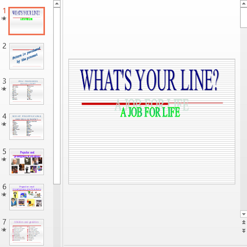 Презентация What's your line