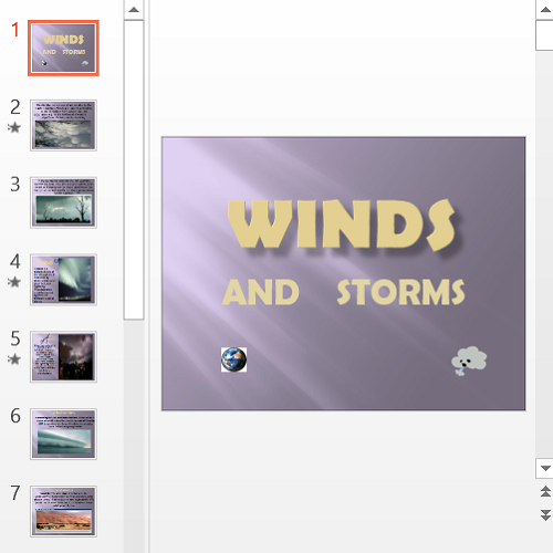 Презентация Winds and storms