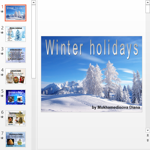 Презентация Winter holidays