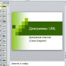 Презентация Диаграммы UML