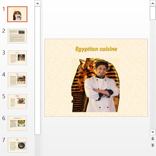 Презентация Egyptian cuisine