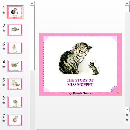 Презентация The story of miss moppet