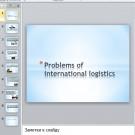 Презентация Problems of international logistics