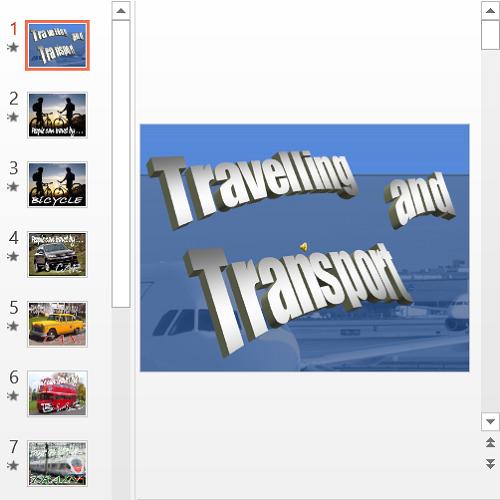 Презентация Travelling and Transport