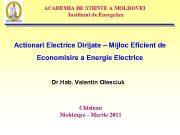 ACADEMIA DE STIINTE A MOLDOVEI Institutul de Energetica