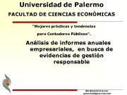 Universidad de Palermo FACULTAD DE CIENCIAS ECONÓMICAS Mejores