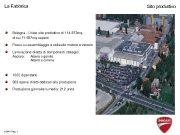 La Fabbrica Sito produttivo Bologna — Unico sito