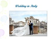 Wedding in Italy Italy — the scene of