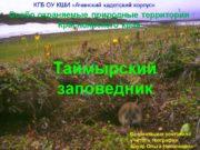 Особо охраняемые природные территории Красноярского края Таймырский заповедник