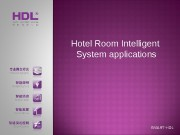 Hotel Room Intelligent  System applications SMART-HDL
