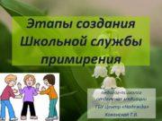 Этапы создания Школьной службы примирения педагог-психолог отделения медиации