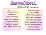 Направление «Экономика» профили: «Общий» «Финансы и кредит» «Бухгалтерский
