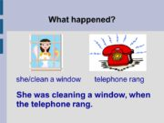 What happened? She was cleaning a window, when