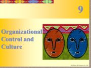 Organizational Control and Culture 9 Organizational Control Managers