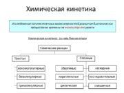 Химическая кинетика Исследование количественных закономерностей развития биологических процессов