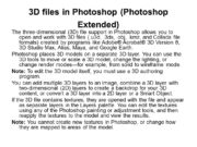3 D files in Photoshop (Photoshop Extended) The