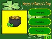 Happy St Patrick's Day Pot of gold Pot