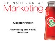 Chapter Fifteen Advertising and Public Relations. Advertising and