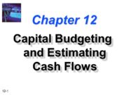 Chapter 12 Capital Budgeting and Estimating Cash Flows.