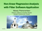 12. 02. 02 1 Non-linear Regression Analysis with