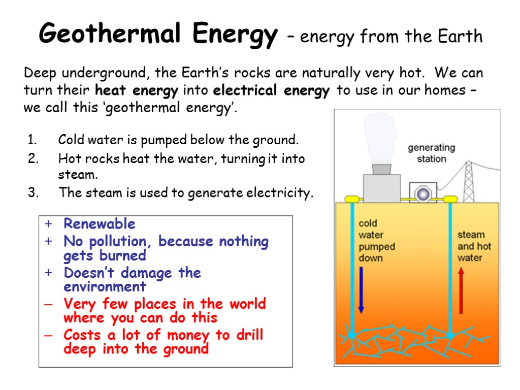 Geothermal Energy – energy from the Earth Cold