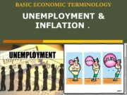 BASIC ECONOMIC TERMINOLOGY UNEMPLOYMENT & INFLATION. Unemployment Unemployment