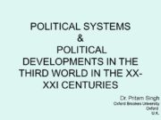 POLITICAL SYSTEMS & POLITICAL DEVELOPMENTS IN THE THIRD