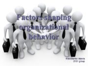 Factors shaping organizational behavior Kravchenko Valeria 2131 group.