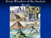 Seven Wonders of the Ancient World Great Pyramid