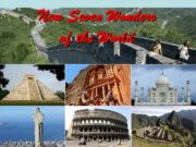 New Seven Wonders of the World New 7