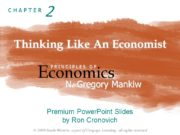 Thinking Like An Economist Economics P R I