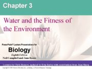 Chapter 3 Water and the Fitness of the