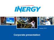 January 2012 Corporate presentation 2 © Inergy Automotive