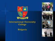 International University College Bulgaria. International University College Campuses: