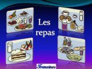 Les repas. En France, il y a trois