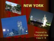 NEW YORK Prepared by Tomchuk Anna Class 9