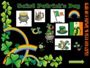 Saint Patrick's Day horseshoe Pot of gold rainbow