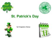 St. Patrick's Day By Evsegneeva Nastya. Plan Introduction