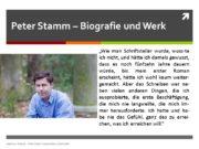 Peter Stamm – Biografie und Werk Andreas Ramin