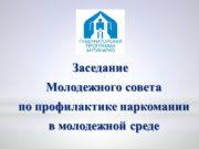 Заседание Молодежного совета по профилактике наркомании в молодежной
