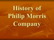 History of Philip Morris Company The history of