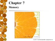 Chapter 7 Memory Chapter Preview The Nature of